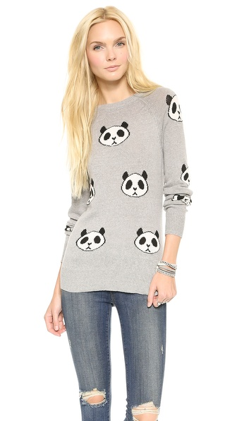 Wildfox Panda Head Party Sweater