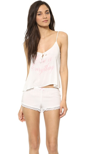 Wildfox Love Is Everything Pajama Set