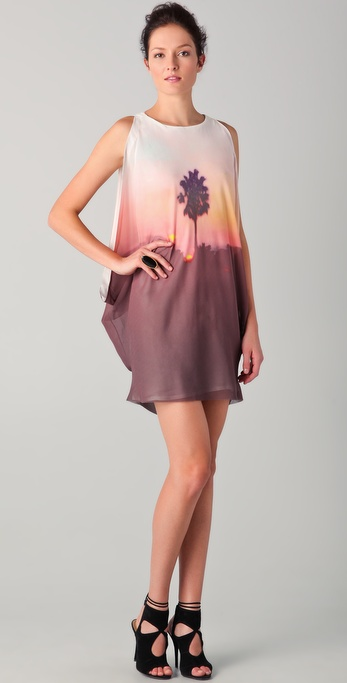 Willow Palm Cascade Dress
