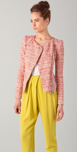 Willow Sunset Weave Biker Jacket