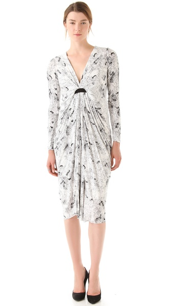 Willow Draped Print Dress
