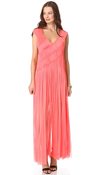 Willow Asymmetrical Ruched Gown
