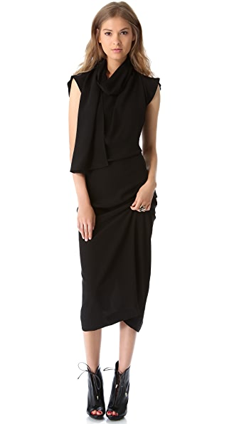 Willow Asymmetrical Drape Dress