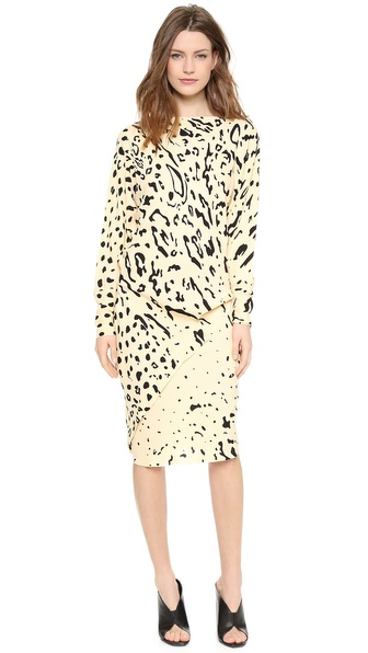 Willow Print Long Sleeve Dress