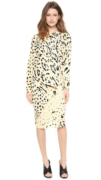 Willow Print Long Sleeve Dress