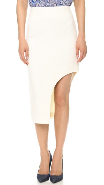 Willow Wool Asymmetrical Cutaway Skirt