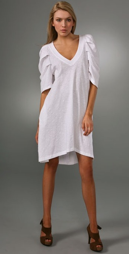 Wilt Slub Jersey T Shirt Dress with Bold Sleeves