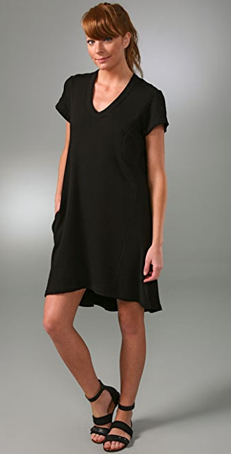 Wilt Distressed Vintage French Terry Hi Lo Dress