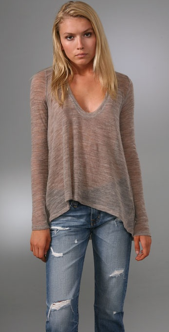 Wilt Hi Lo Long Sleeve Sweater
