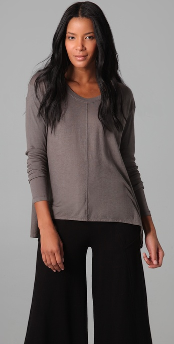 Wilt Darted BF Long Sleeve Top