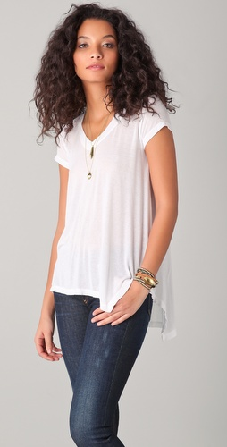 Wilt Slanted Deep V Short Sleeve Tee