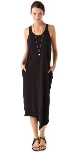 Wilt Slim Slant Midi Tank Dress