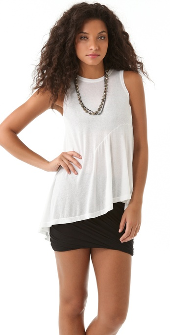Wilt Slouch Dart Shell Top