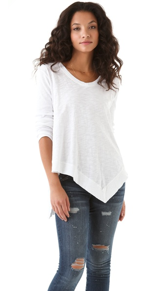 Wilt Uneven V Neck Top
