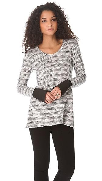 Wilt Leather Cuff Sweatshirt