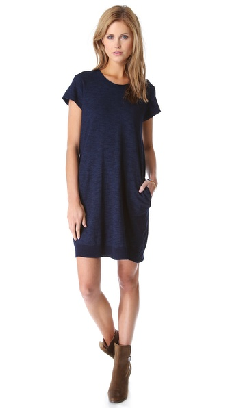 Wilt Dark Wash Pleat Back Dress