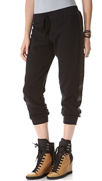 Wilt Leather Mix Sweatpants