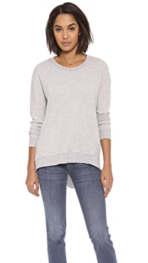 Wilt Basic Big Back Slant Sweatshirt