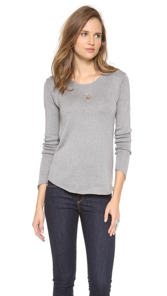 Wilt Long Sleeve Shrunken Shirt Tail Top