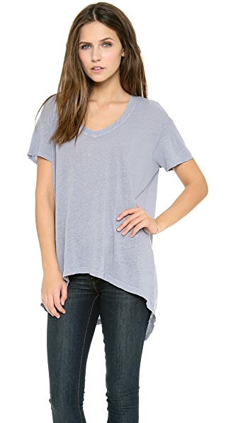 Wilt Big V Neck Cropped Tee