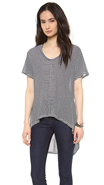 Wilt Deep V High Low Tee
