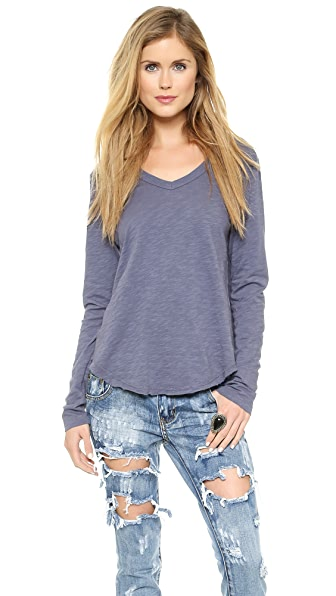 Wilt Shrunken Shirttail Long Sleeve Tee