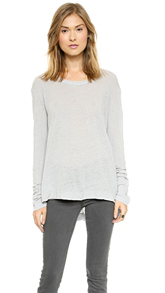 Wilt Lux Long Sleeve Slouchy Crew Tee