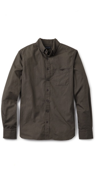 Wings + Horns Reversed Foliage Print Shirt
