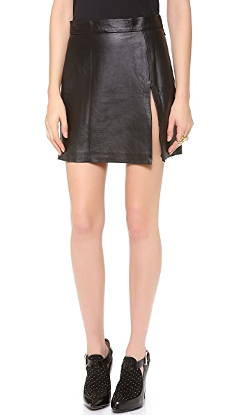 WINSTON WOLFE Crazy 88 Split Leather Skirt