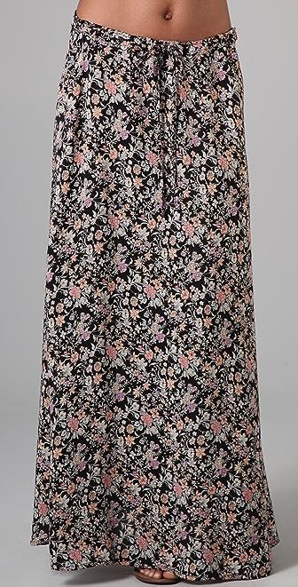 Winter Kate Health Long Floral Skirt