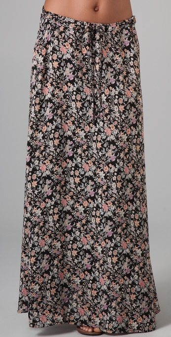 Winter Kate Health Long Floral Skirt