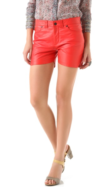 Winter Kate Leather Shorts