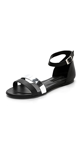 Won Hundred Alma Double Band Flat Sandals