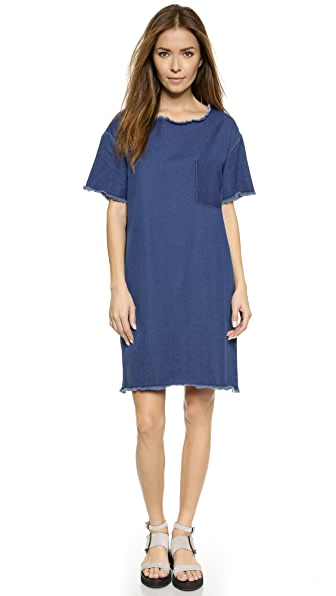 Won Hundred Won Hundred Blur Denim Dress (Multicolor)