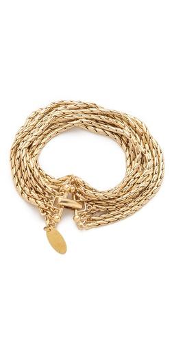 Wouters & Hendrix 8 Strand Gold Chain Bracelet