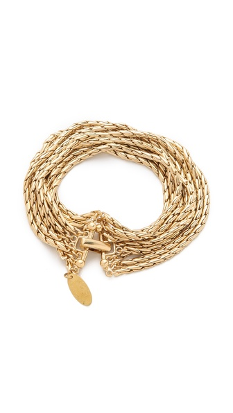 Wouters & Hendrix 8 Strand Gold Chain Bracelet