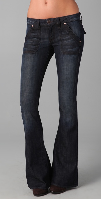 William Rast Lola Flare Flap Jean