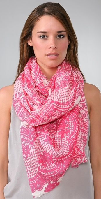 YARNZ Scalloped Lace Scarf