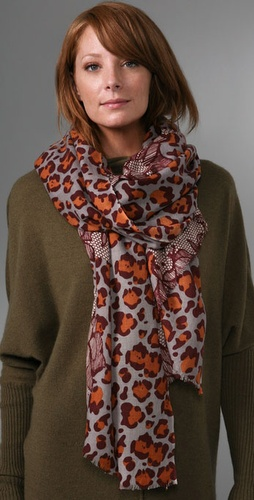 YARNZ Leopard Lace Scarf