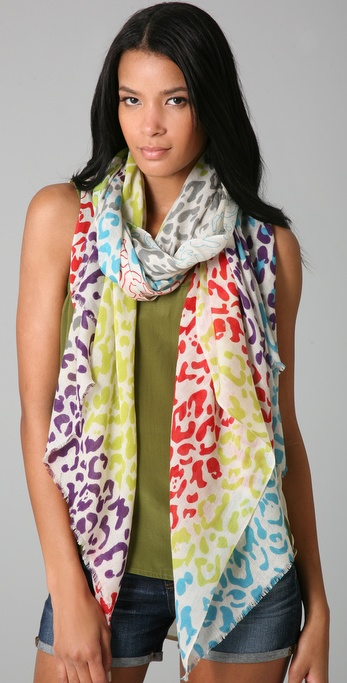 YARNZ Multicolored Cheetah Scarf