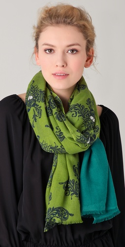 YARNZ Baroque Birds Cashmere Scarf