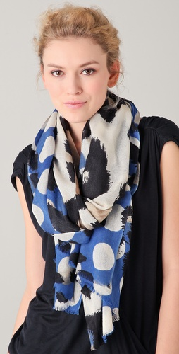 YARNZ Leopard Dots Cashmere Scarf