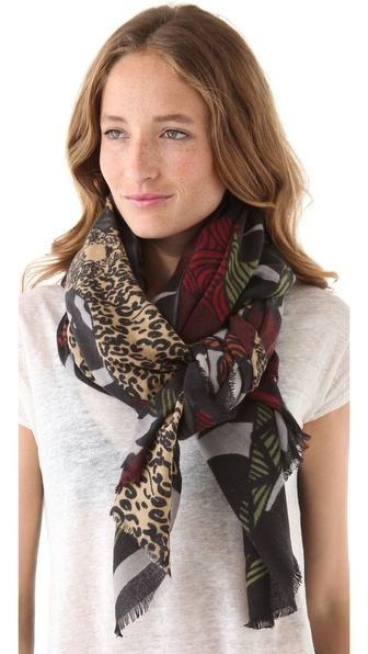 YARNZ Leopard Forest Scarf