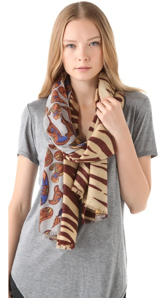 YARNZ Zebra Paisley Scarf