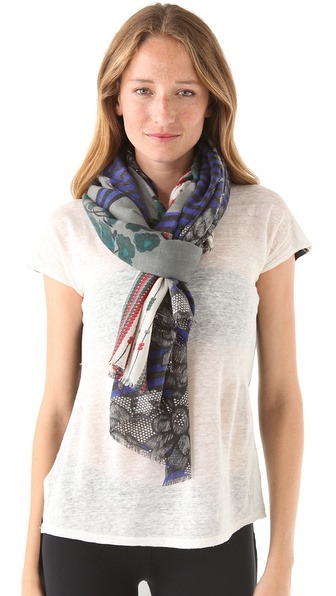 YARNZ Lace & Stripes Scarf