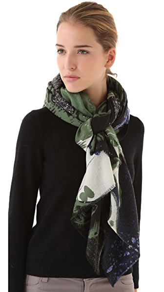 YARNZ Deer Woodblock Scarf