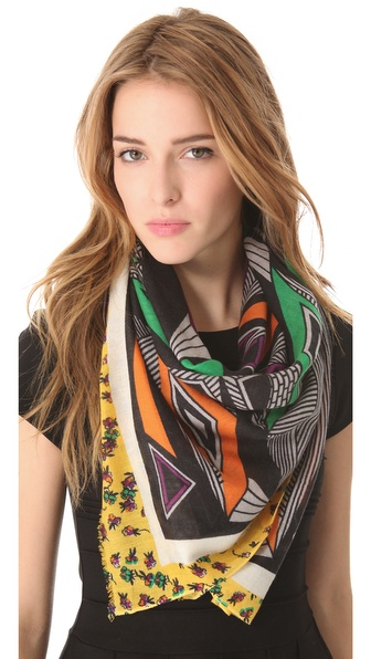 YARNZ Triangles & Florals Scarf