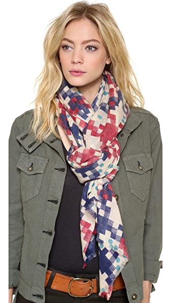 YARNZ Dotted Square Cashmere Scarf