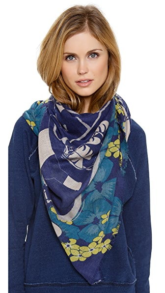 YARNZ Paris Map Cashmere Scarf