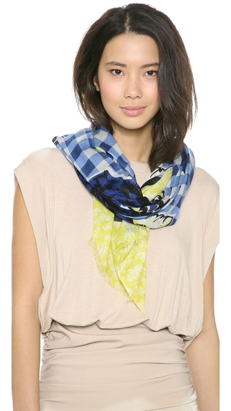 YARNZ Gingham Rose Scarf
